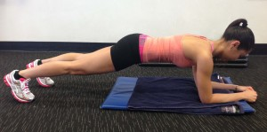 ab exercises for a flat and toned stomach - plank