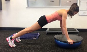 ab exercises for a flat and toned stomach - bosu plank