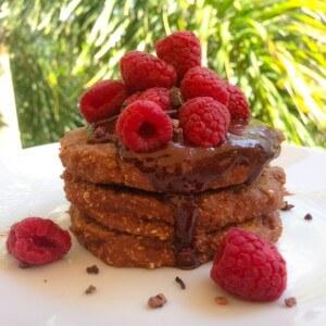 healthy breakfast - protein pancakes