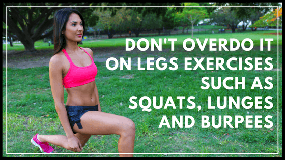 how to lean out legs without getting big muscles- exercises to avoid
