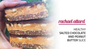 Healthy Salted Chocolate And Peanut Butter Slice