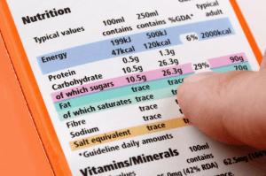 sugar food labels