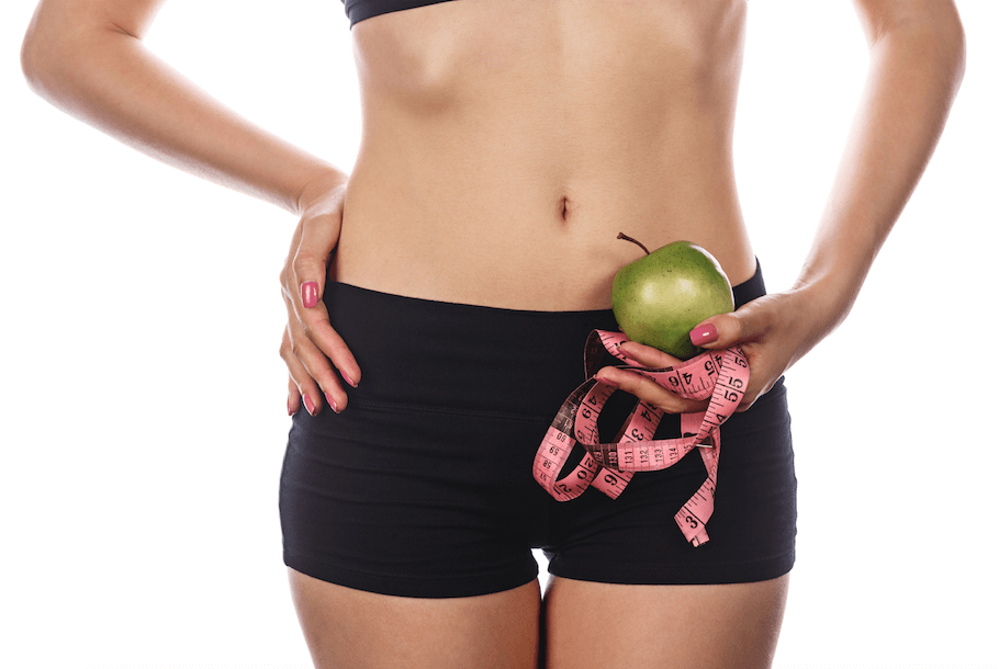 5-Foods-to-Cleanse-Your-Liver-apple-girl-think-measuring-tape
