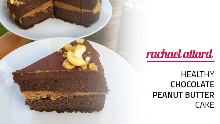 healthy chocolate peanut butter cake