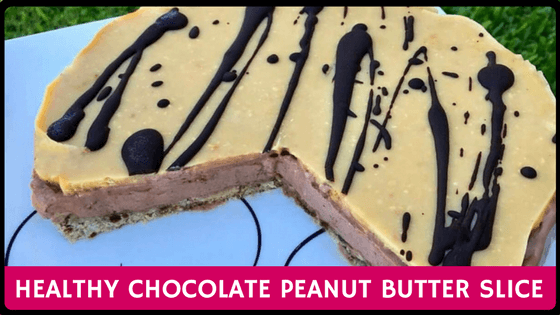 Healthy Chocolate Peanut Butter Slice