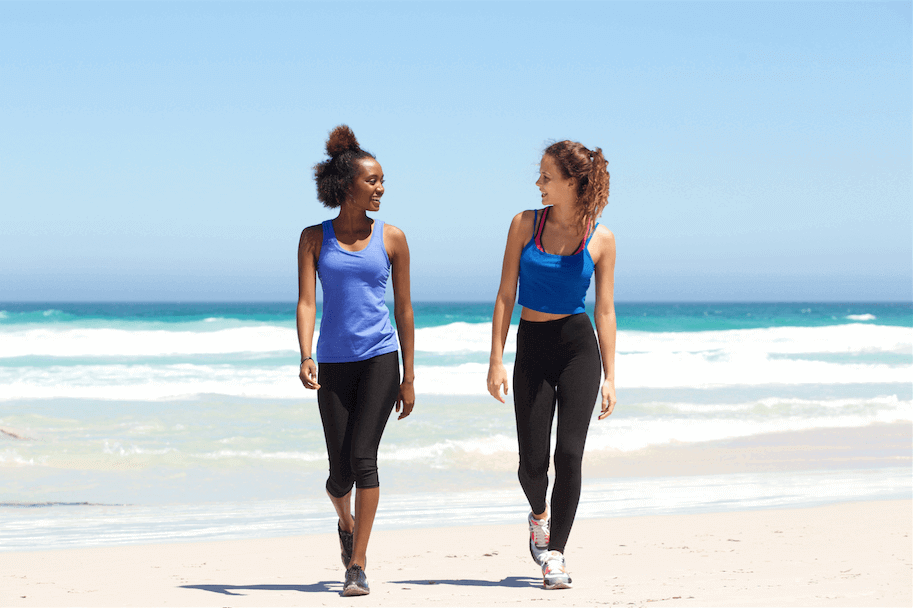 how to stick to a workout program cardio walk