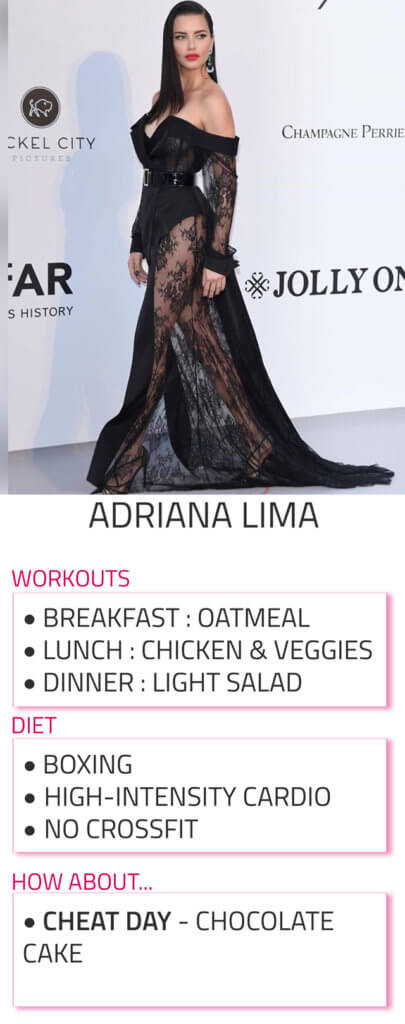 adriana lima diet and workout routine