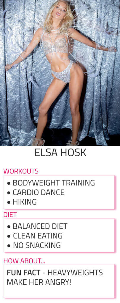 elsa hosk diet and workout routine