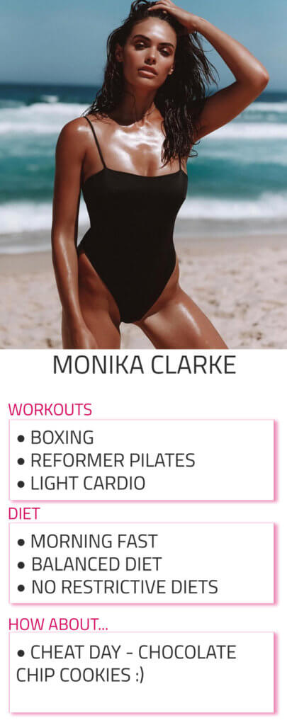 monika clarke diet and workout routine