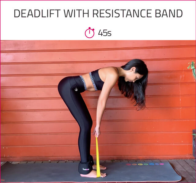 butt workout with resistance band