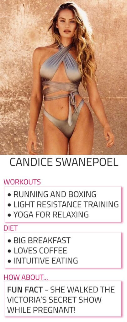 candice swanepoel diet and workout routine