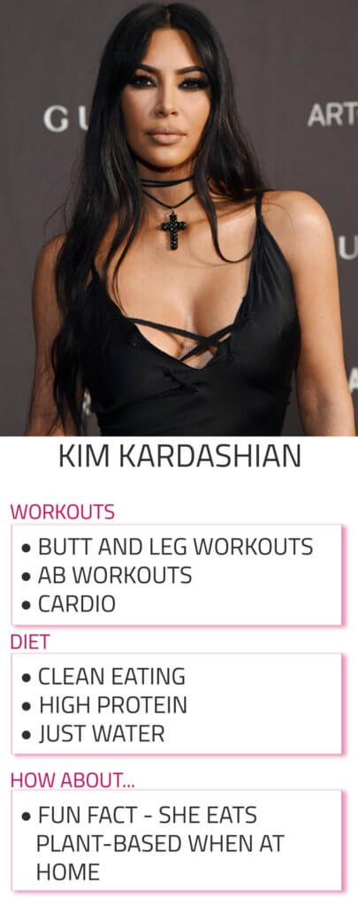 kim kardashian diet and workout tips
