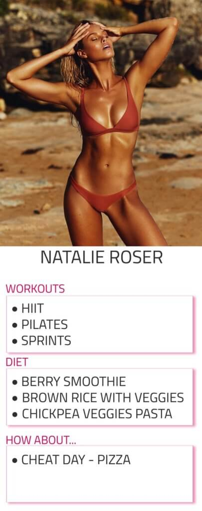 natalie roser diet and workout routine