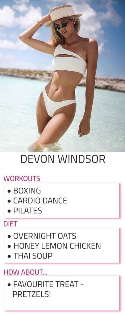 devon windsor diet and workout routine