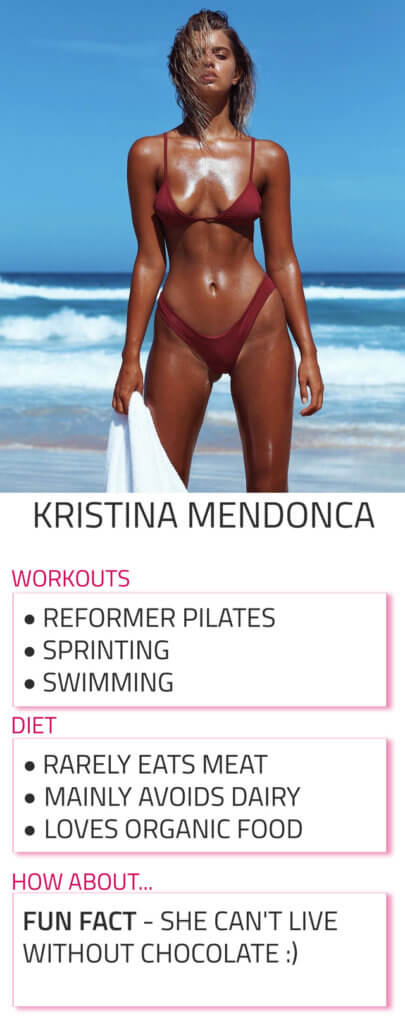 kristina mendonca diet and workout routine