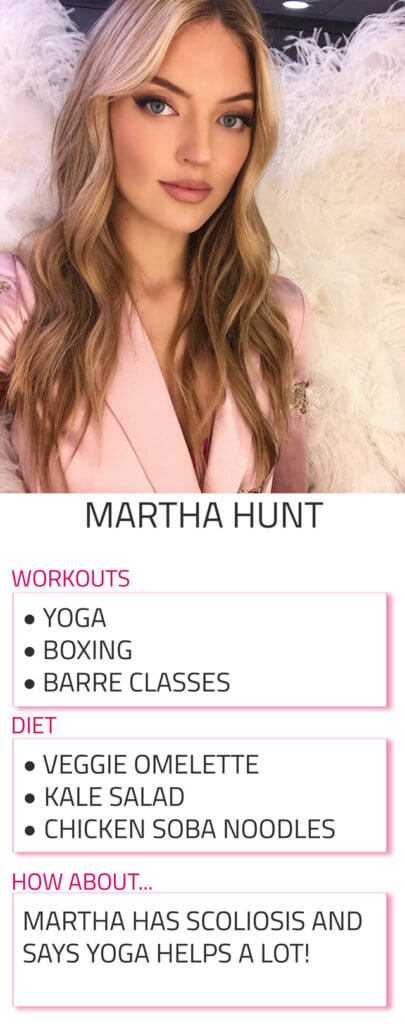 martha hunt diet and workout routine