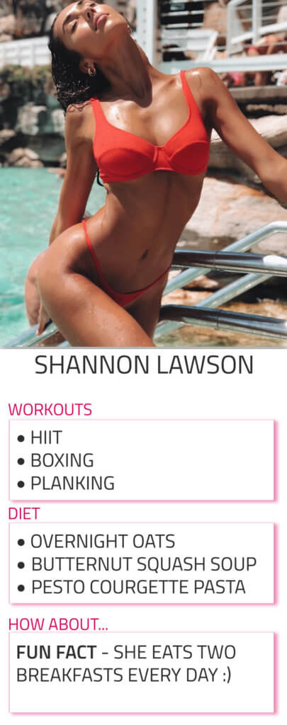 shannon lawson diet and workout routine