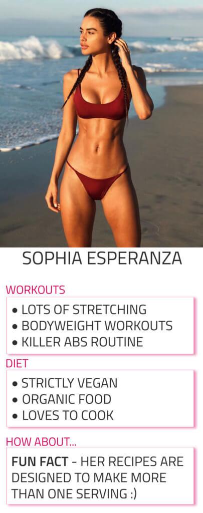 sophia esperanza diet and workout routine
