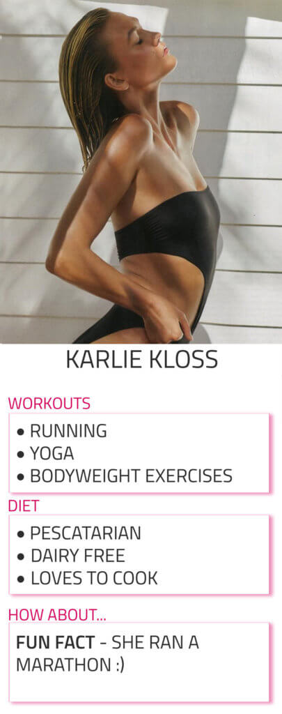 karlie kloss diet and workout routine