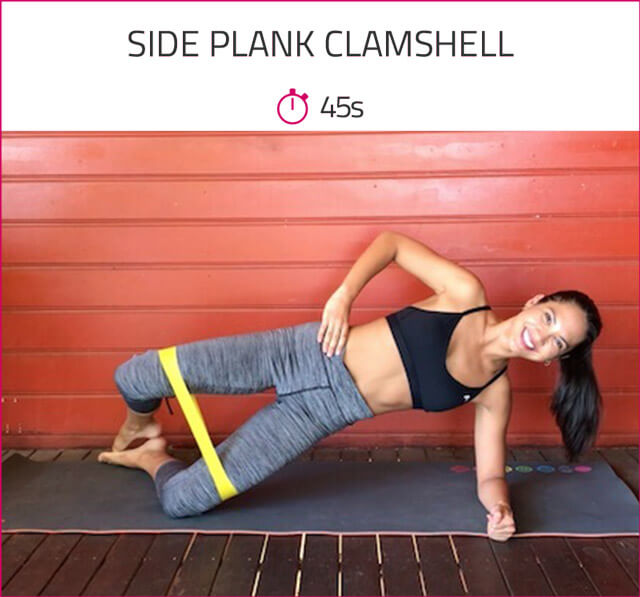 abs workout for women side plank clamshell