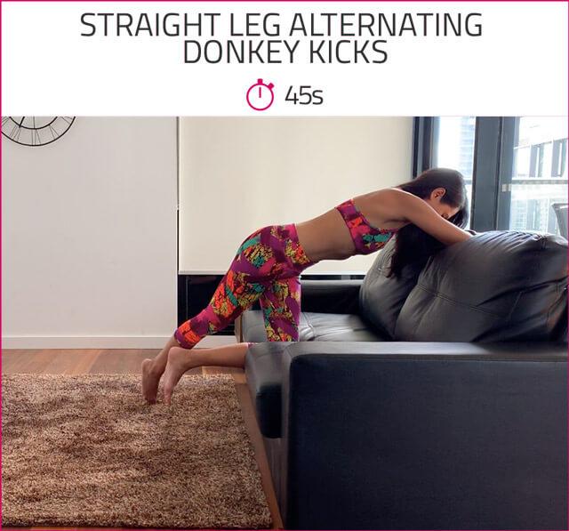 straight leg donkey kicks
