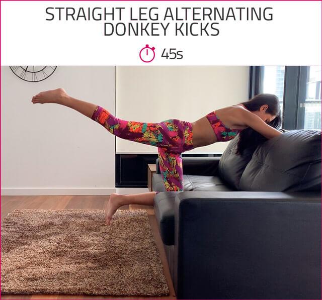 best at home butt workout donkey kicks