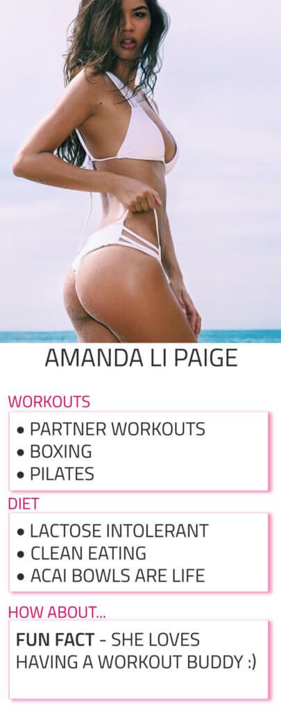 amanda li paige diet and workout routine