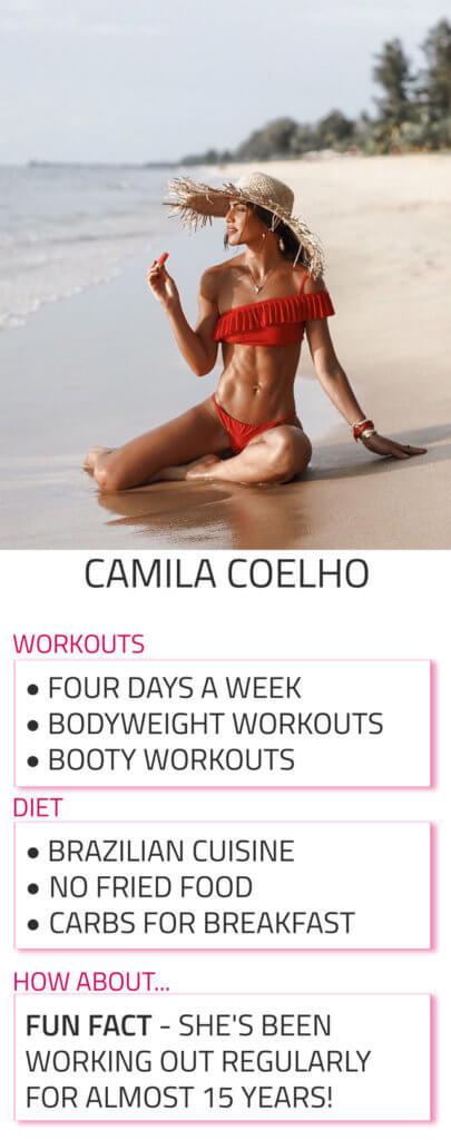 camila coelho diet workout routine