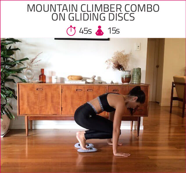 mountain climber combo on gliding dscs