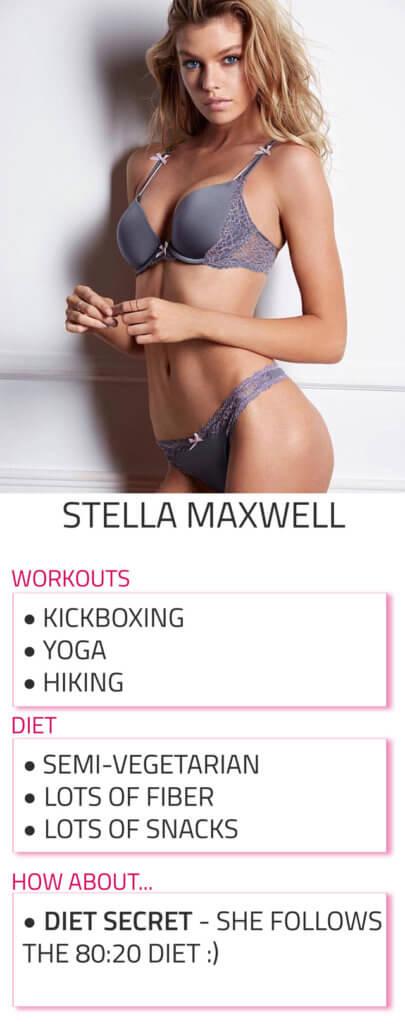 stella maxwell diet workout routine