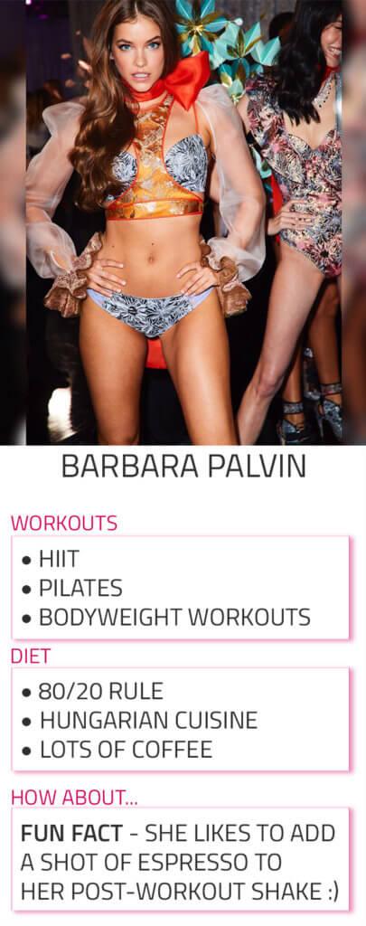 barbara palvin diet workout routine