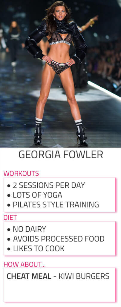 georgia fowler diet workout routine