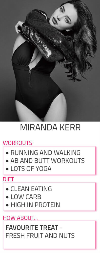 miranda kerr diet workout routine