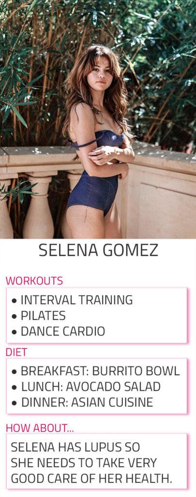 selena gomez diet workout