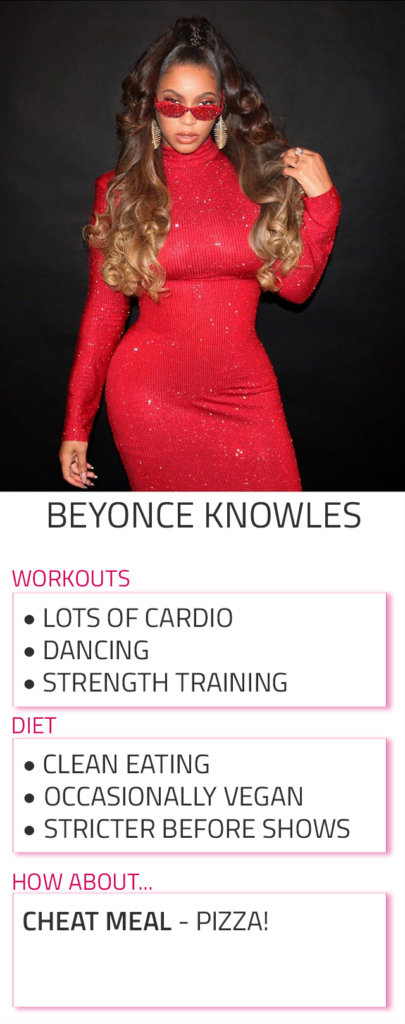 beyonce diet workout rotuine