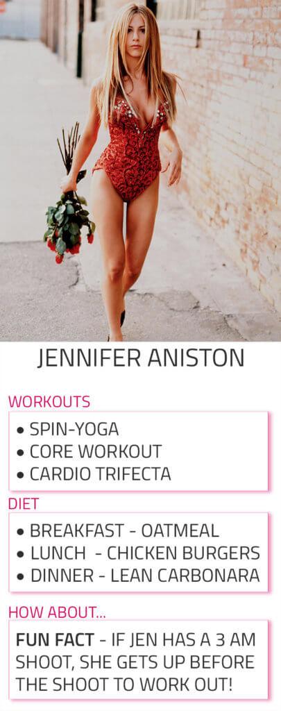 jennifer aniston diet workout routine
