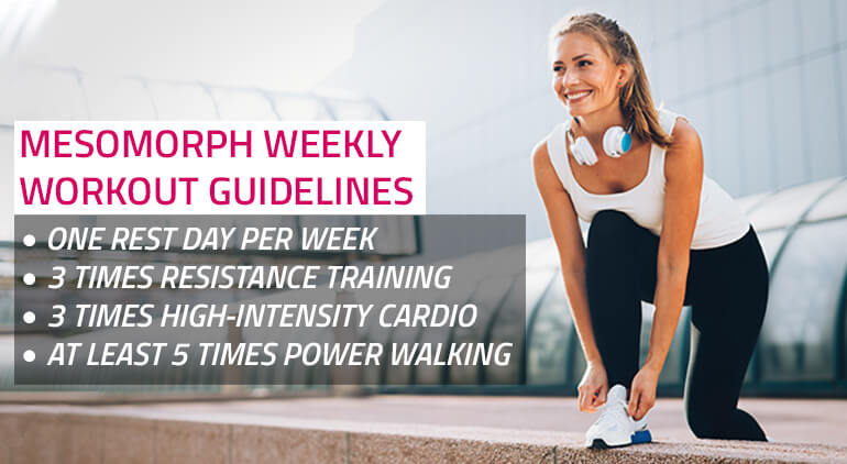 weekly workout guide for mesomorph girls