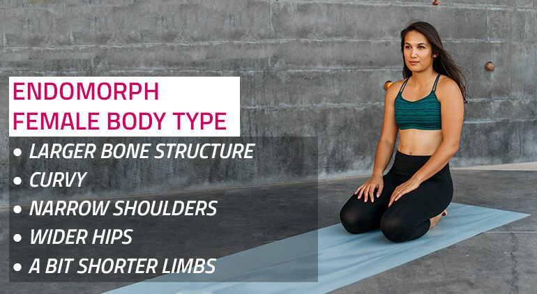 endomorph female body type features