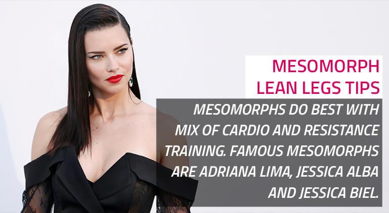 how to get skinny legs as mesomorph