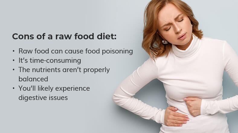 cons of a raw food diet