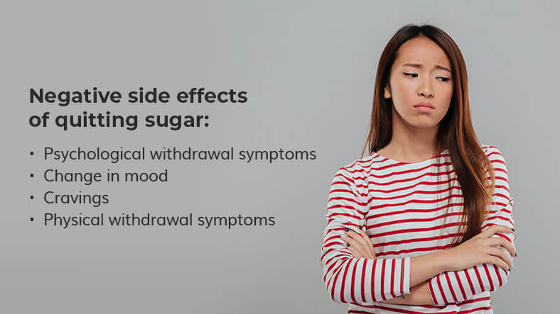 negative side effects of quitting sugar