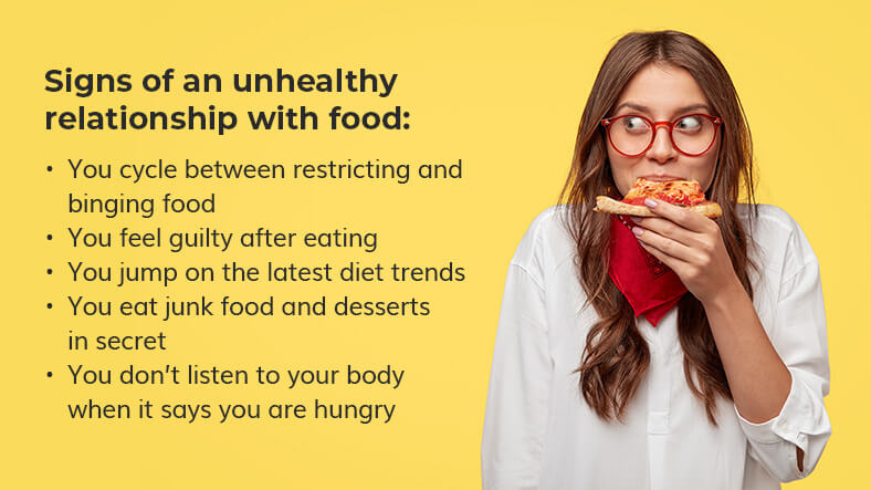 unhealthy relationship with food