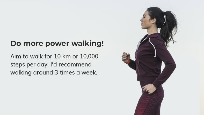 power walking to get lean not bulky