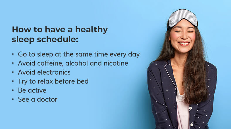 how to have a healthy sleep schedule