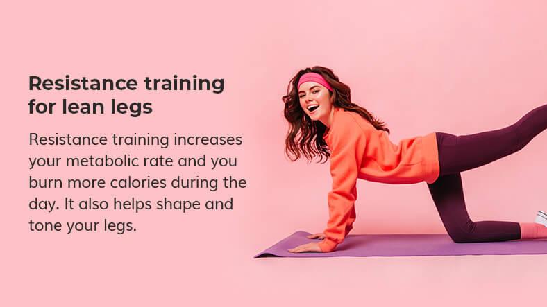 resistance training for lean legs