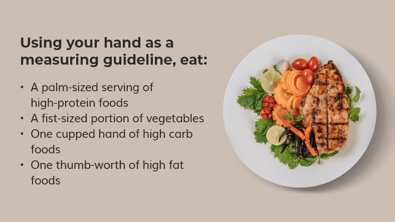 tips to measure your portion sizes