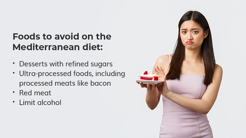 what not to eat on the mediterranean diet